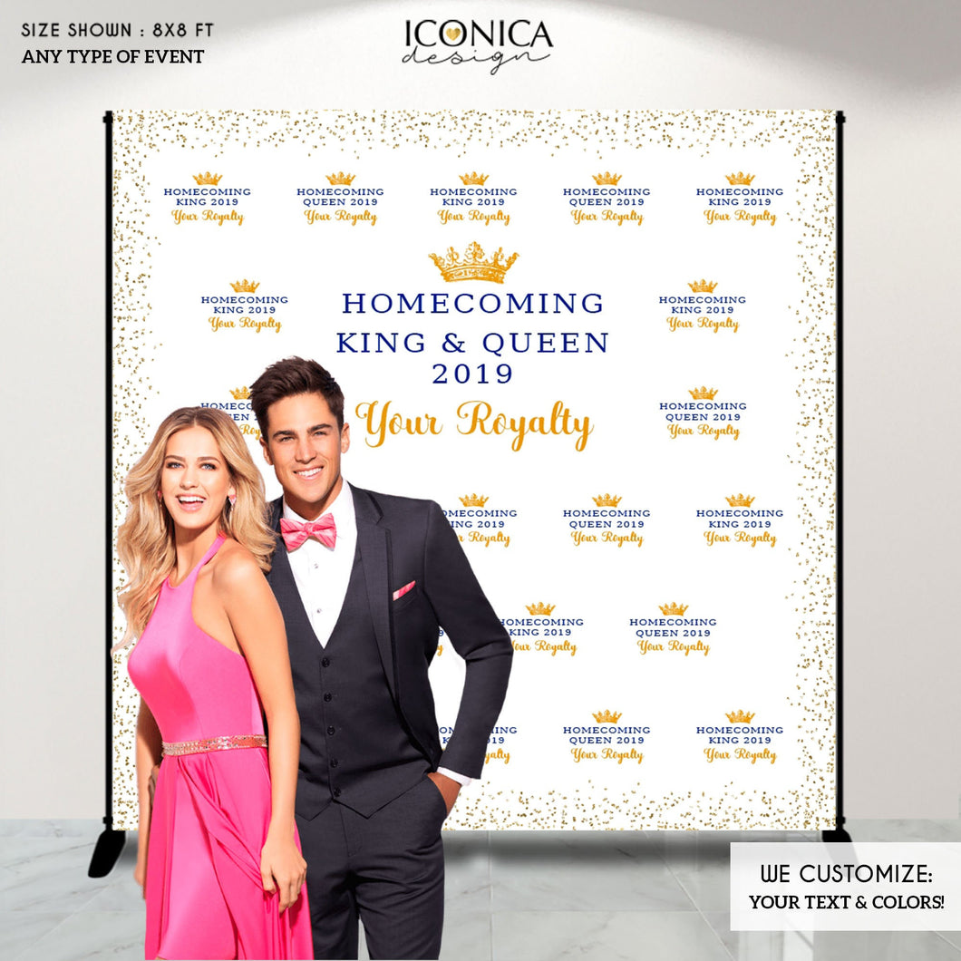 Virtual Homecoming Party Photo Backdrop, School Homecoming Photo Booth, Homecoming Dance Decor, HOCO Dance, Graduation Party Backdrop, Prom
