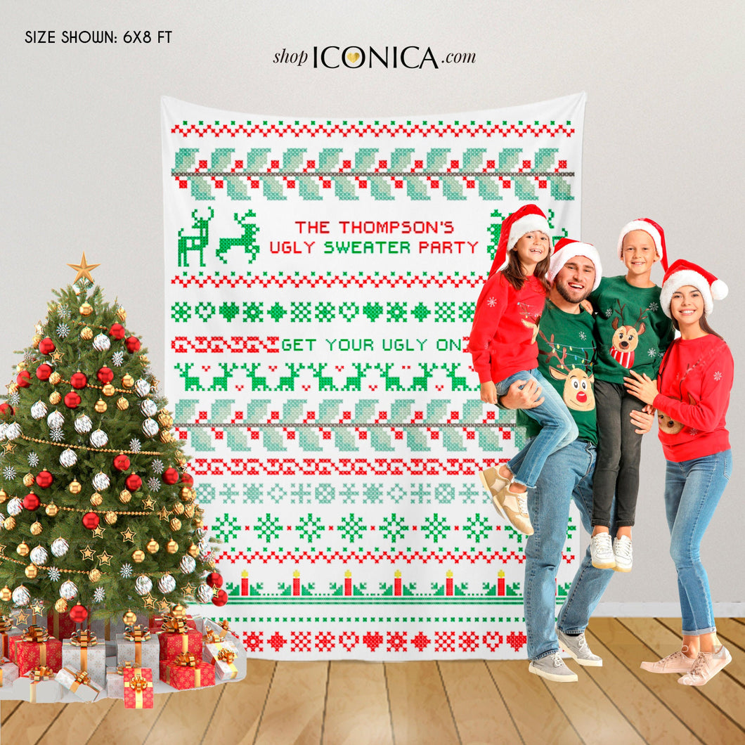 Ugly Sweater Party Backdrop,ugly sweater backdrop,Ugly Sweater Photo Booth Backdrop,Ugly Sweater Party Decorations,Printed Festive backdrop
