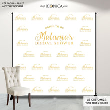 Load image into Gallery viewer, Bridal Shower Photo Booth Backdrop, Custom Step And Repeat Backdrop, Banner, Bridal Shower Backdrop, Red Carpet, Printed Or Digital File