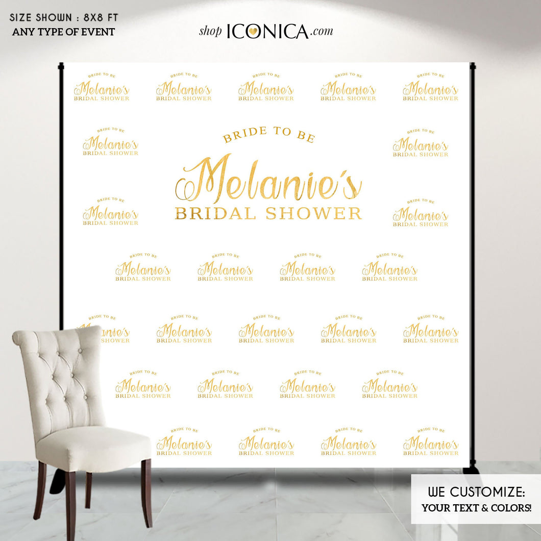 Bridal Shower Photo Booth Backdrop, Custom Step And Repeat Backdrop, Banner, Bridal Shower Backdrop, Red Carpet, Printed Or Digital File