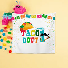 Load image into Gallery viewer, Fiesta themed 1st Birthday Backdrop,Cinco de Mayo Decorations,Taco about 1 Backdrop,UNO Fiesta Decorations, Printed or Printable File