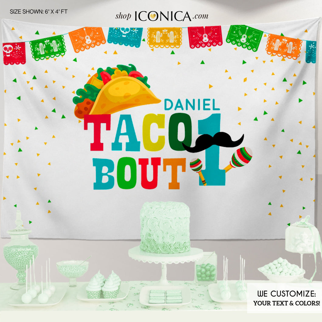 Fiesta themed 1st Birthday Backdrop,Cinco de Mayo Decorations,Taco about 1 Backdrop,UNO Fiesta Decorations, Printed or Printable File