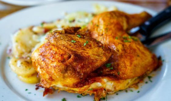 Greek Lemon Chicken with Rice Pilaf