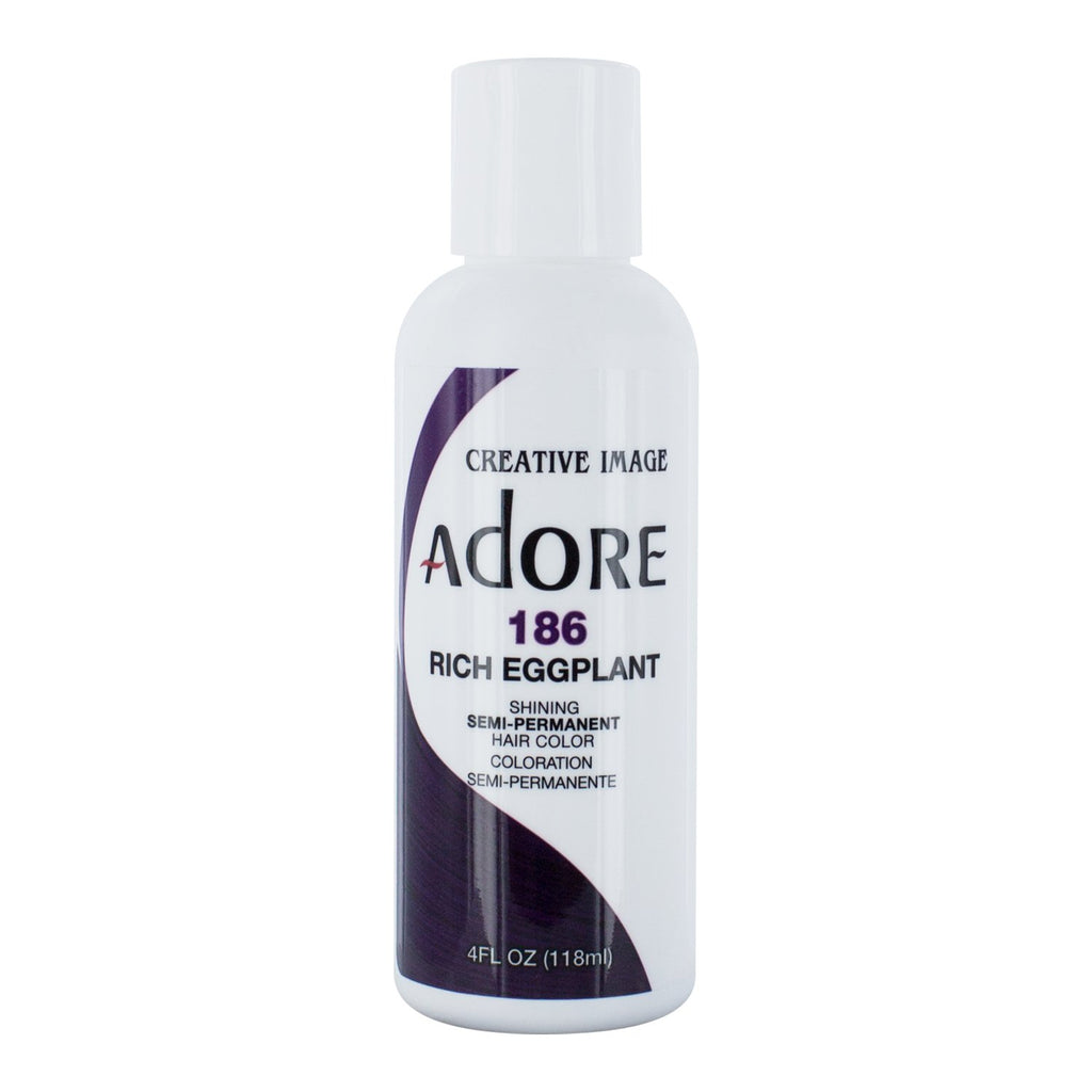 Adore Semi-Permanent Hair Color 186 Rich Eggplant 4 oz