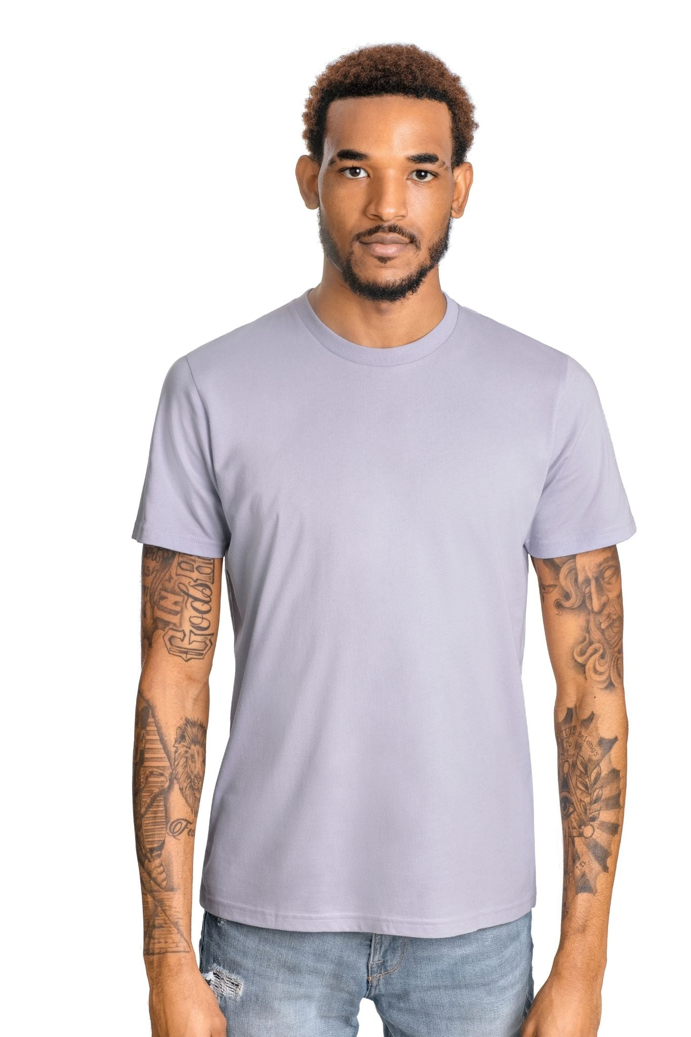 GOLD COTTON Unisex Organic Short Sleeve Tee in Dusk