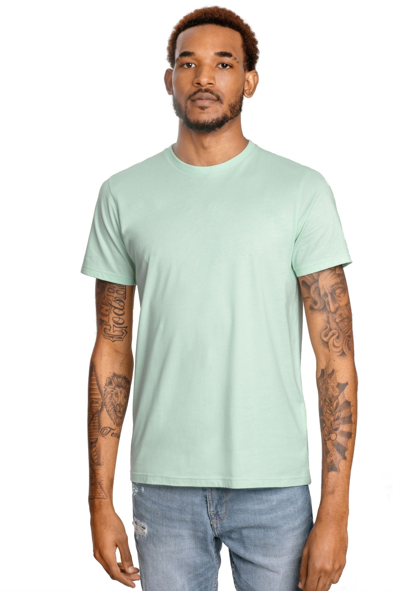 GOLD COTTON Unisex Organic Short Sleeve Tee in Mint