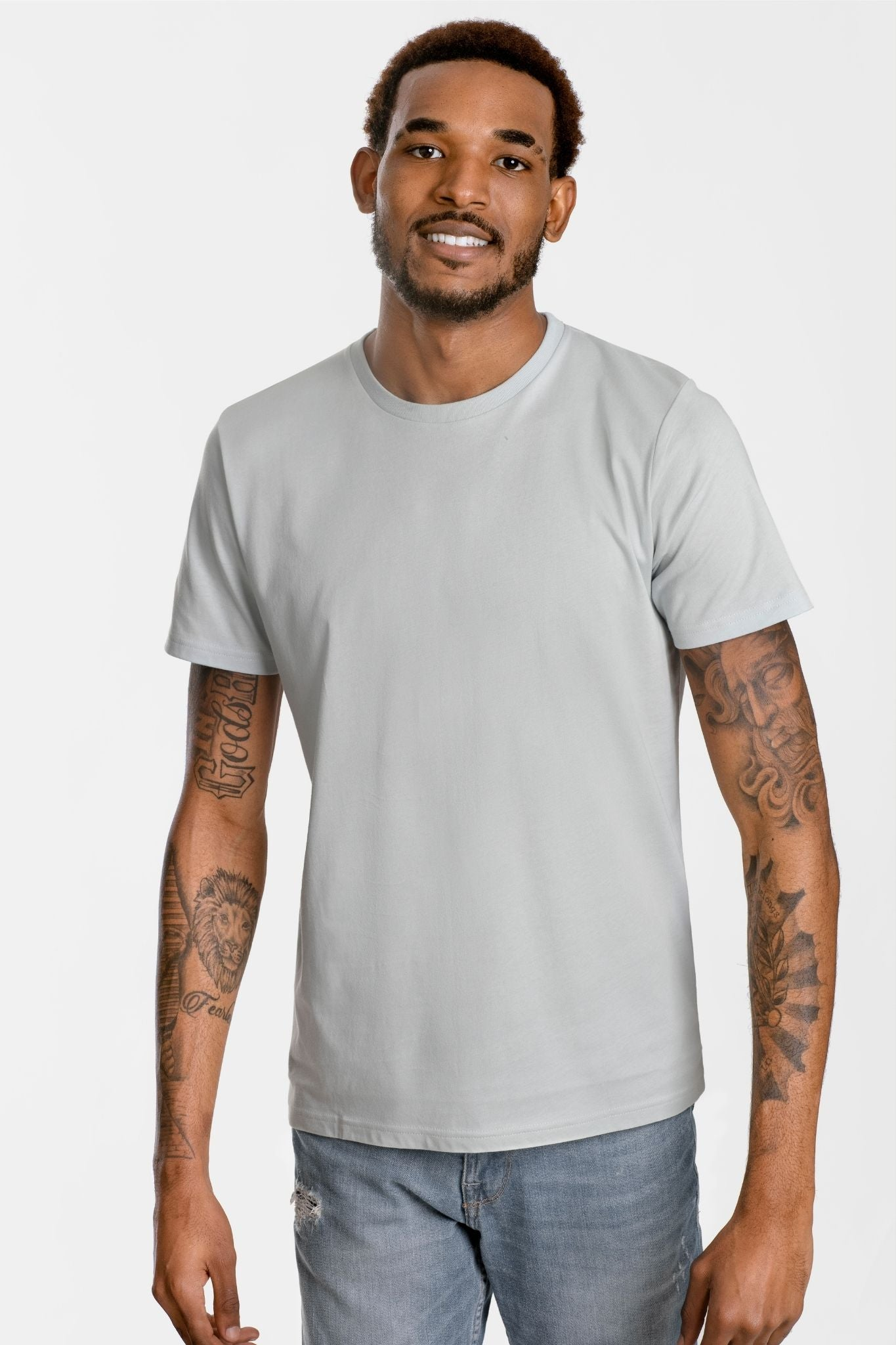GOLD COTTON Unisex Organic Short Sleeve Tee in Stone