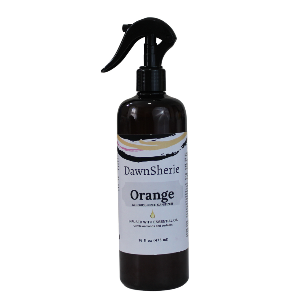 Essential Oil Orange Sanitizer Spray 16 oz