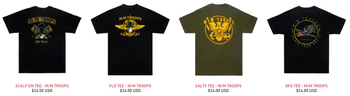 MM Troops Collection Shirts