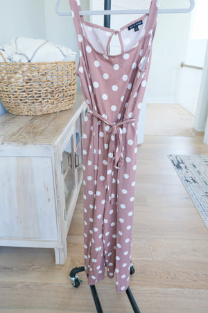 Polka Dot Wrap Jumpsuit