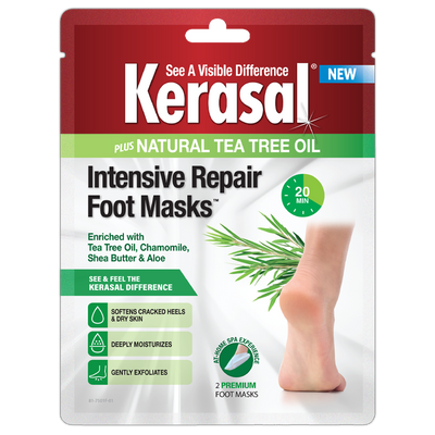 Kerasal® Intensive Repair Foot Masks plus Tea Tree Oil - 6 Pairs