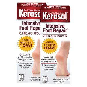 Kerasal® Intensive Foot Repair™, Ointment for Cracked Heels and Dry Feet, 1 oz (2 Pack)