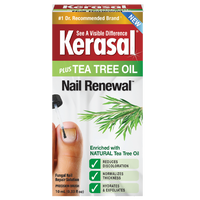 Kerasal® Nail Renewal™ plus Tea Tree Oil, Nail Repair Solution with Tea Tree Oil for Discolored and Damaged Nails, 0.33 fl oz