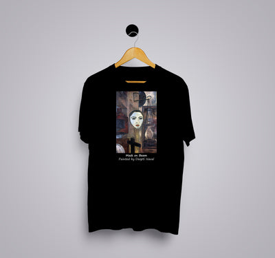 Mask On Beam by Deepti Naval - Printed T-Shirt