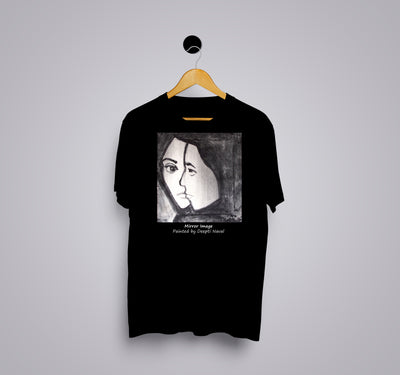 Mirror Image by Deepti Naval - Printed T-Shirt