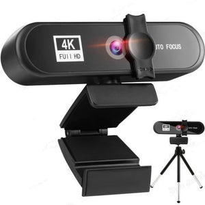 Webcam 4k, enfoque automático, cámara para computadora, USB, Webcam - TheChangarro