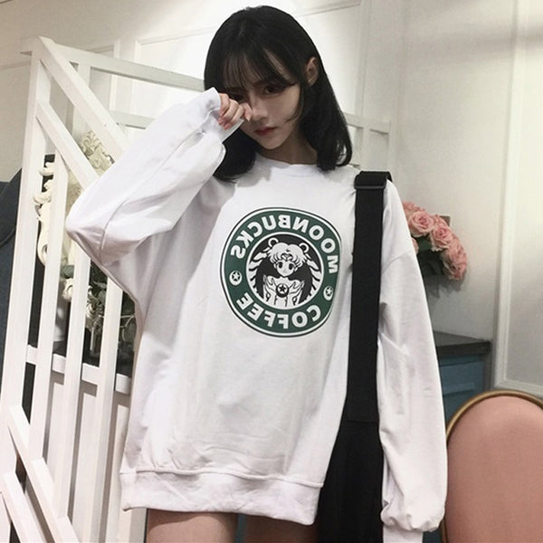 Japanese Moonbucks Coffee Parody Sweater