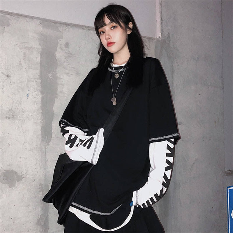 Boyfriend Style Oversized Korean Hip-Hop Shirt