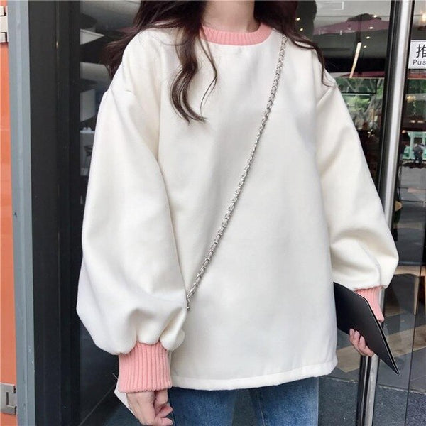CAKE! | Japanese College Style Cotton Pullover