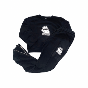 Short Crew Neck Top  Sweatsuit