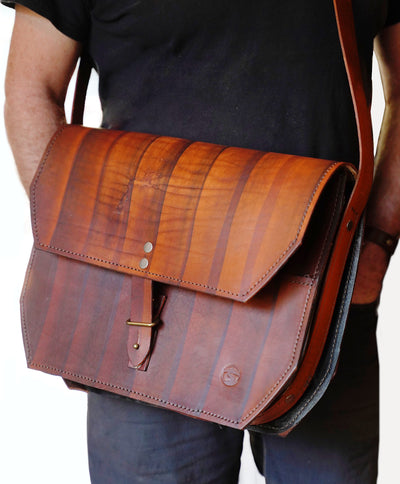 Guy with brown messenger bag