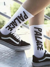10 Pack Skateboard Letter Print Cotton Middle Tube Socks Multi Color Sport Socks