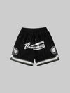 Loose-Fitting Embroidery Print Sports Shorts