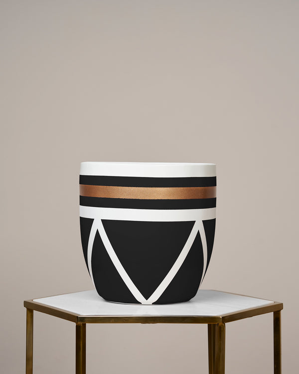 AMALFI - NOIR BLACK PLANTER