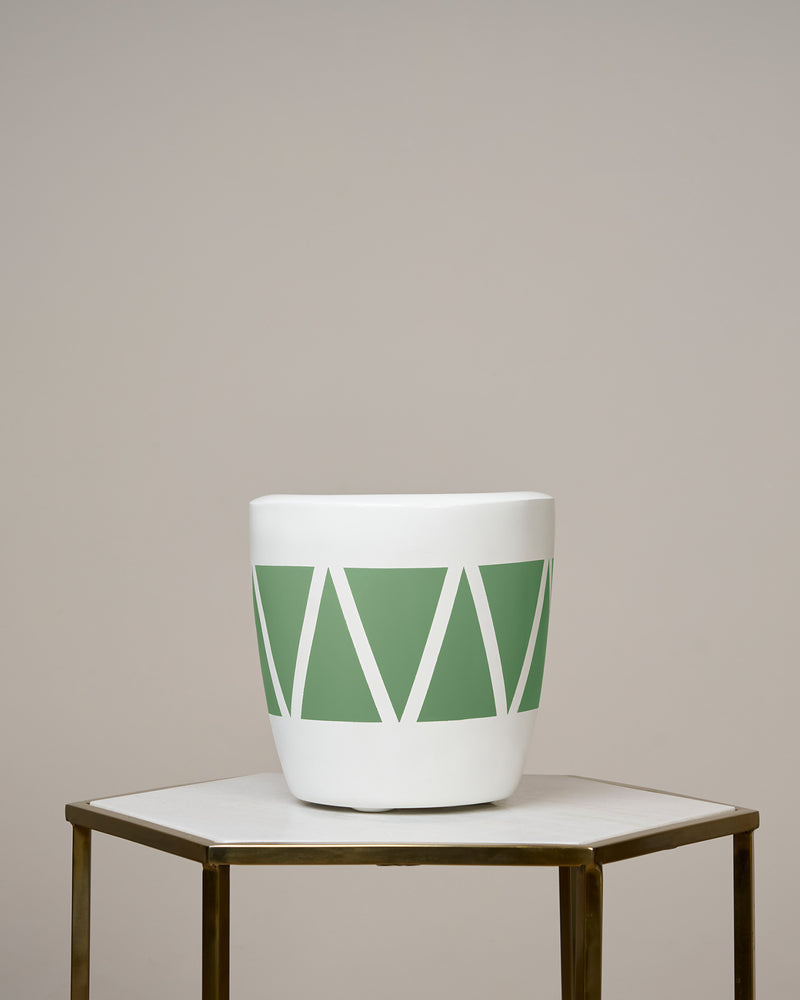CAIRO - OLIVE GREEN PLANTER