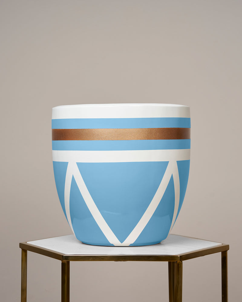 AMALFI - OCEAN BLUE PLANTER