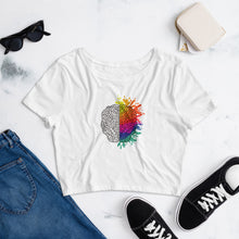Load image into Gallery viewer, Right Brain- Women's Crop Tee