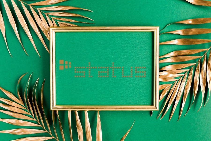 STATUS design studio Gift Card ~Green Gold Palm leaves