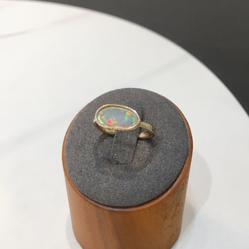 SHAFCA K14YG Opal RIng