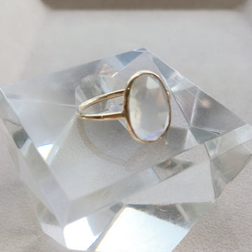 Oval Rose Cut Moonstone Ring