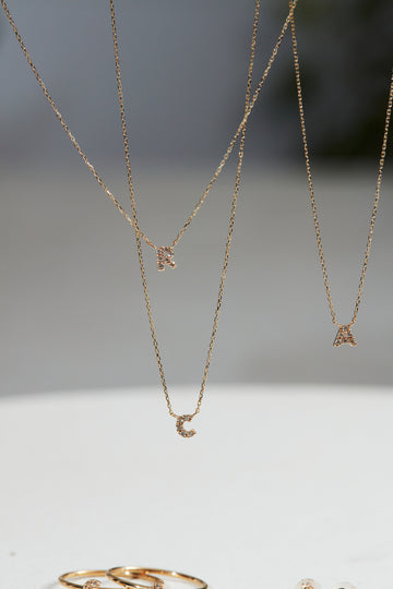 Your Initial Diamond Necklace OPTION [K10WGへ変更]