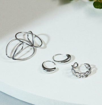 Select, Silver Ear cuff and Pierce