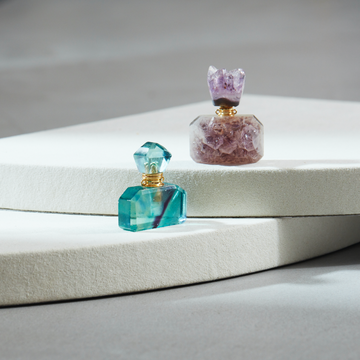 Select Perfume Bottle (Green Fluorite / Amethyst)