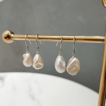 Fresh Water Mini Baroque Pearl Pierces / Earrings