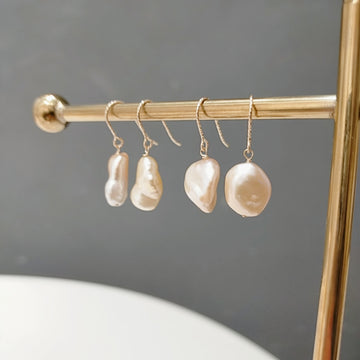 Fresh Water Pearl Baroque Pierces / Earrings
