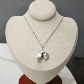 Fresh Water Mini Flower Petal Pearl Necklace