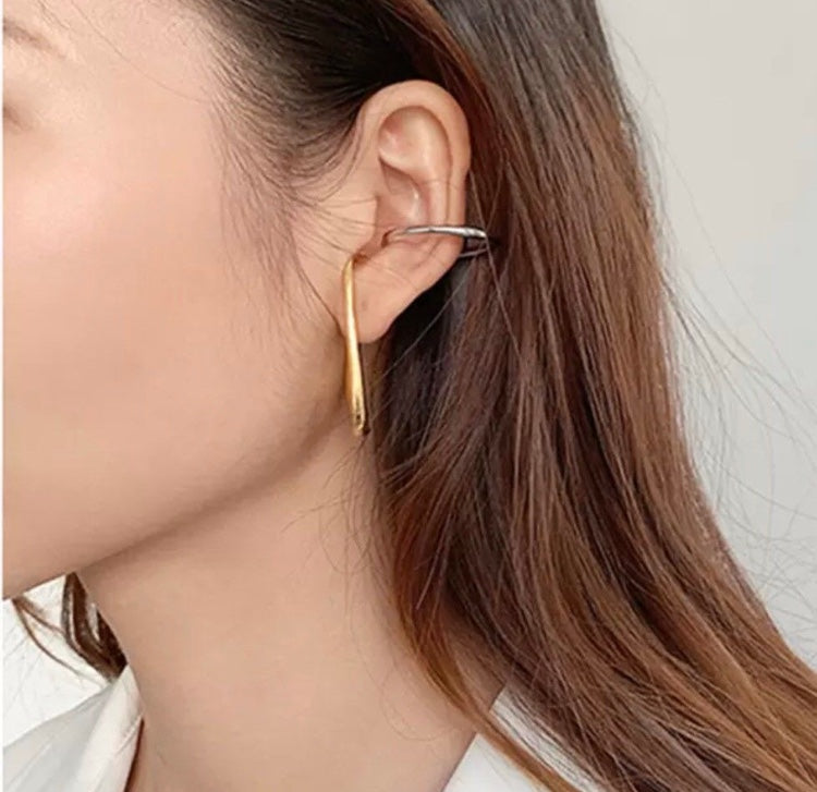Select Double Colored Ellipse Ear Cuff