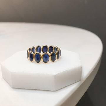 Oval Sapphire Eternity Ring