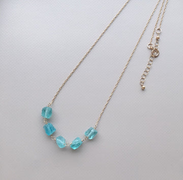 Five Pieces of Apatite Necklace