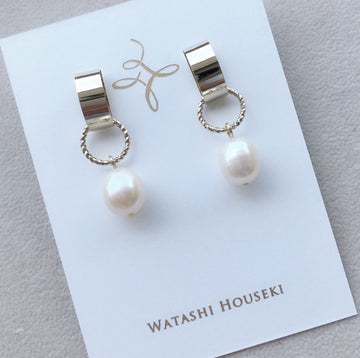 Water Pearl Short Pierces / Earrings