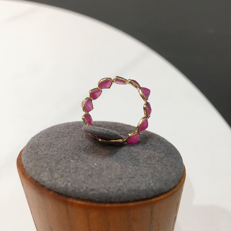 Drop Ruby Eternity Ring
