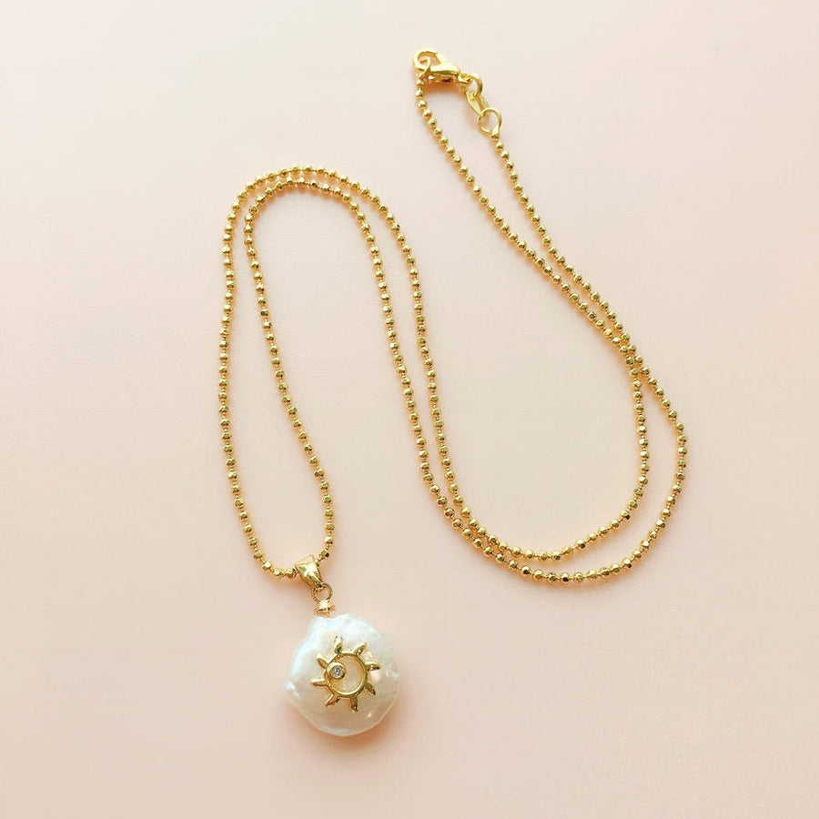 Gold Necklace Chain for Your Baroque Pearl Pendant Top