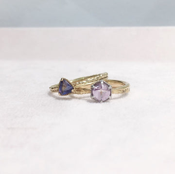 SHAFCA Iolite Gold Ring