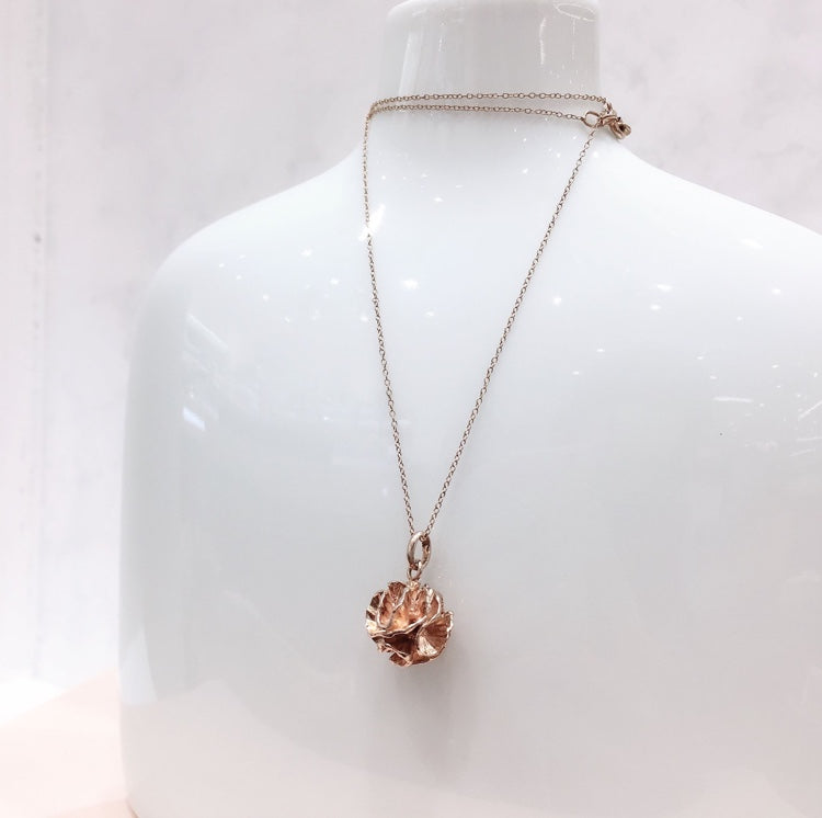 SHAFCA Pink Gold Frill Ball Necklace