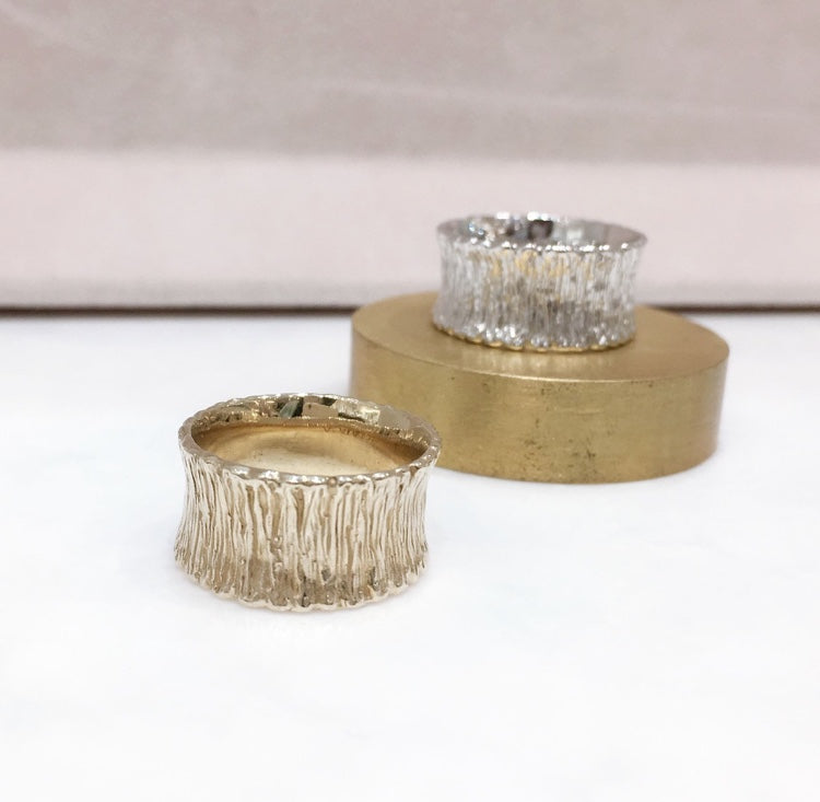 SHAFCA Wide Wave Ring (Gold/ Silver)