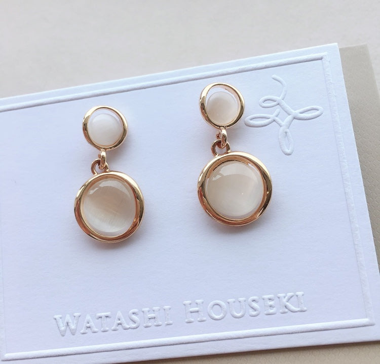 Select Two Rounds Pierces with Pink Gold